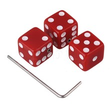 Yibuy White Plastic Dice Guitar Volume Control Knobs with Wrenches Set of 3