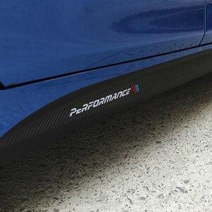Image 5 - Falda lateral de fibra de carbono 5d, umbral, raya de automovilismo para Bmw F30 F31 F32 F33 F22 F23 F15 F85 F10 E60 E61 G30 E90 M, pegatina de rendimiento
