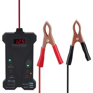 Image 2 - 12V araba pil test cihazı dijital voltmetre ve şarj sistemi analizörü alternatör test cihazı motosiklet otomotiv tanılama aracı