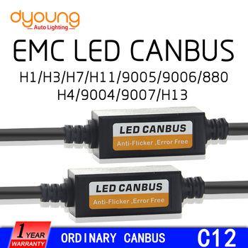 c12 2PCS H1 H4 H7 LED Headlight Canbus Wiring Kit 9005 9006 H8 H9 H11 9004 Computer Warning Error EMC Resistor Canceler Decoder