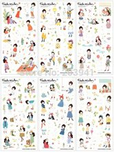 10packs/lot Korean Style PVC sticker set Sweet Girl Planner Toys Stickers For Notebook Paper Decoration(China)