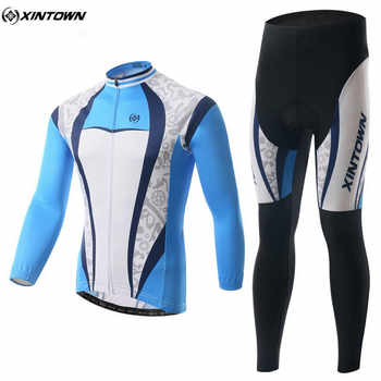 XINTOWN Winter Men Long Cycling Jersey Set Mtb Roupa Ciclismo Bike Outdoor Sportswear Riding Cycling Clothing CC0336 - DISCOUNT ITEM  5% OFF Sports & Entertainment