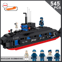 545PCS Military Strategic Nuclear Submarine Compatible With Legoings Bricks For Boy Educational Model Building Blocks Gifts Toys