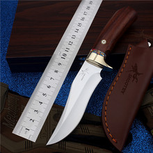 2016 Fruit outdoor camping with small straight cutting tool self-defense wilderness survival mountain high hardness Steel knife