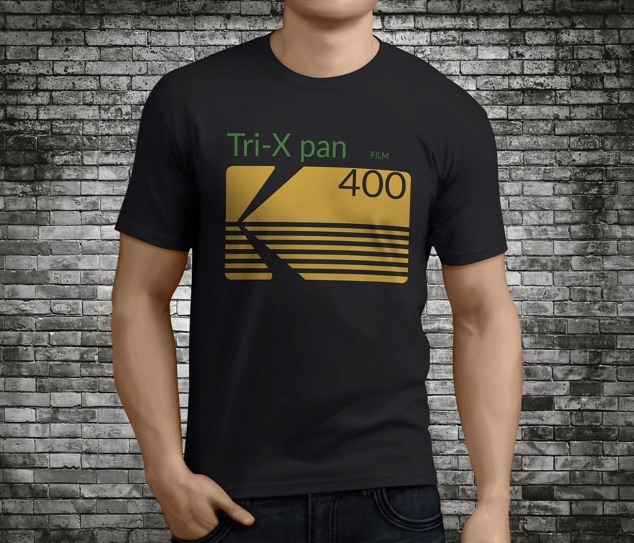 New Popular Kodak Trix Pan Professional Film Black T-Shirt Size S-3XL Great Discount Cotton Men Tee