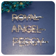 Blingbling Crystal Hair Clip Accessory British Style Word Bobby Pins Jewelry Gift Wholesale