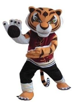 BING RUI CO Nuovo Tigress Tiger Kung Fu Panda Del Costume Della Mascotte Kung Fu Tiger Fancy Dress + Spedizione Gratuita