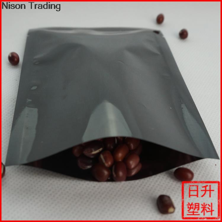 10*15 cm sacos Lisos 200 PCS X Preto chapeamento de alumínio folha de saco-Aluminização folha de mylar bolsa de plástico heat-seal food pacote storge