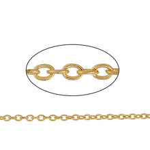 "DoreenBeads Iron Based Alloy Gold Color Link Cable Chain Findings DIY Chain 3.7x2.7mm( 1/8"" x 1/8""), 50cm(19 5/8"") long, 1 Piece(China)"