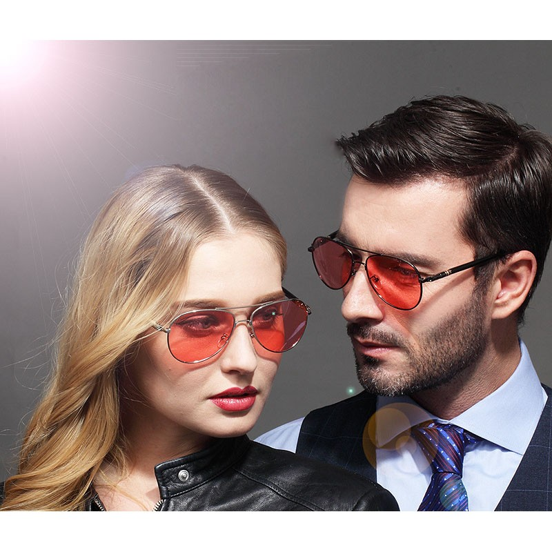 fe70bc5d275 VEGA Woman Man Professional Sunglasses For Fishing Polarized Red Tinted  Glasses Fashion Anti Glare Visor Eyewear Red Lenses 209-in Sunglasses from  Apparel ...