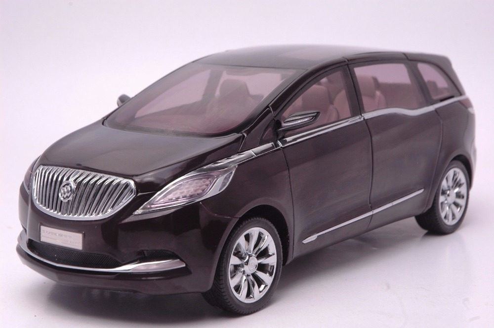 1:18 Diecast Model for GM Buick GL8 Black Concept MPV Alloy Toy Car Miniature Collection Gift