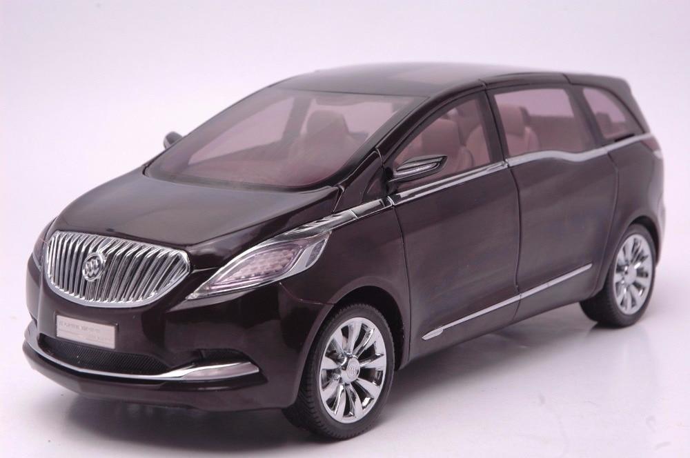1:18 Diecast Model for GM Buick GL8 Black Concept MPV Alloy Toy Car Miniature Collection Gift авточехлы зимние rich antu gl8 gtxt