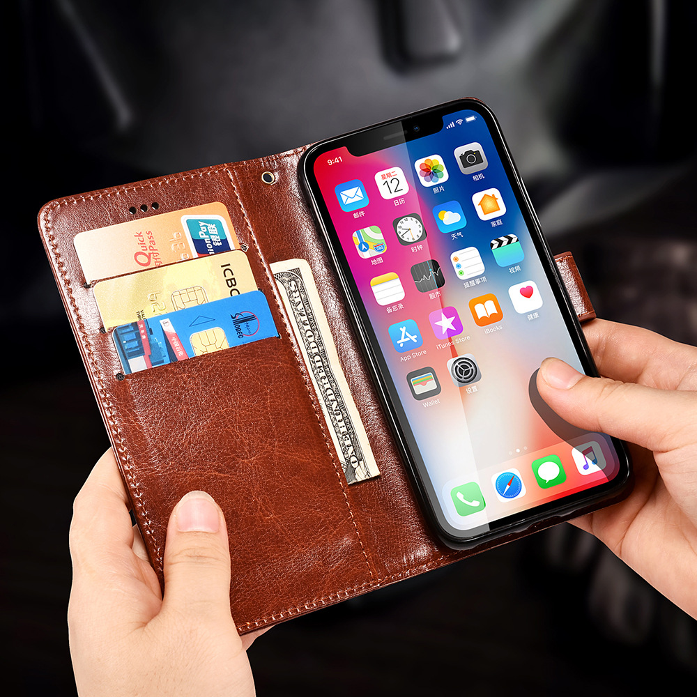 Note 9 Wallet Flip Case For Samsung Galaxy Note 9 8 S9 S8 Plus S7 S6 edge Case Leather Coque Cases for Galaxy Note9 Cover Fundas