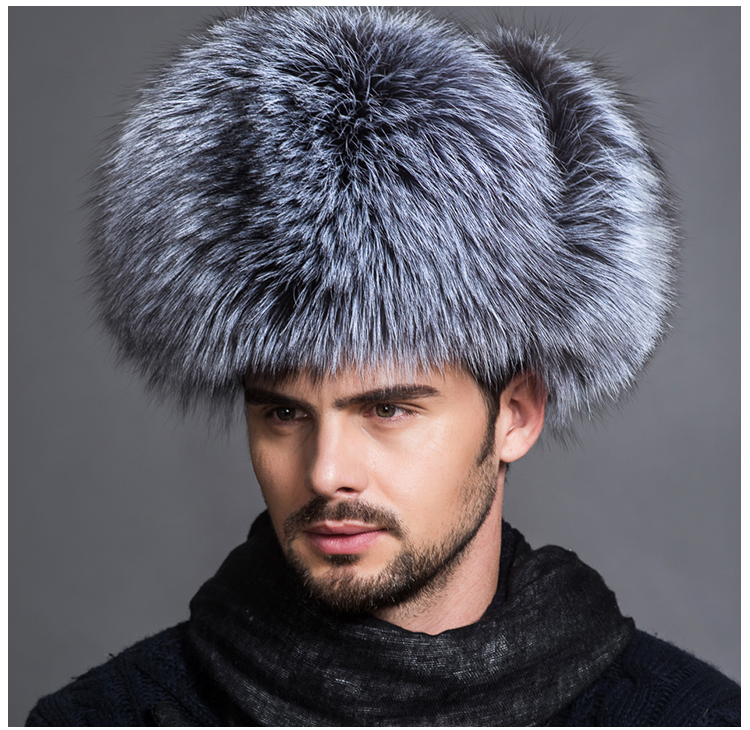 Fur hats men winter leather ear Korean version flows northeast of Cap men s  Fox fur hat-in Holidays Costumes from Novelty   Special Use on  Aliexpress.com ... 075ddfc7207