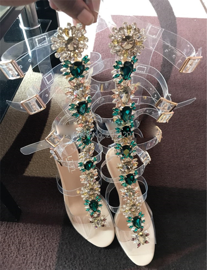 LTTL-Brand-Summer-Shoes-Woman-Narrow-Band-Buckle-Straps-Knee-High-Booties-Shiny-Rhinestone-Clear-Heels
