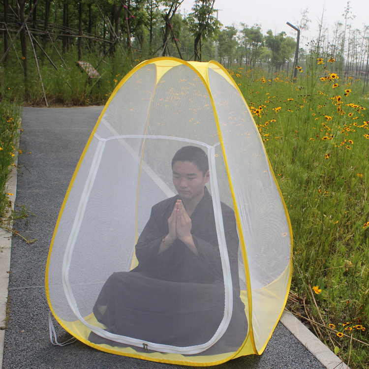 Temple chanting meditation practice Indoor Outdoor tent with mosquito nets large account sitting Buddha yoga net -in Sun Shelter from Sports u0026 Entertainment ... & Temple chanting meditation practice Indoor Outdoor tent with ...