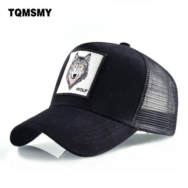 59e20555 TQMSMY Fashion Cotton Baseball Cap men's Snapback Hats For women Hip hop  Gorras bone Embroidered Wolf