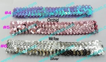 free shipping mix color 160pcs 1'' sequin headbands  for girl stretch sequin headband