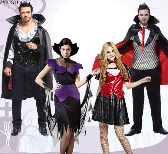 hot 2017 children adult devil vampire costumes halloween costume with hair band carnival party stage show - Band Halloween Costumes