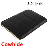 HUWEI Case Cowhide For Lenovo Tab 4 8 Plus Protective Smart Cover Genuine Leather Tab48plus Tablet