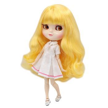 Muñeca ICY DBS, pelo amarillo dorado, piel blanca, junta de copa A, cuerpo de azone BL1200 30cm