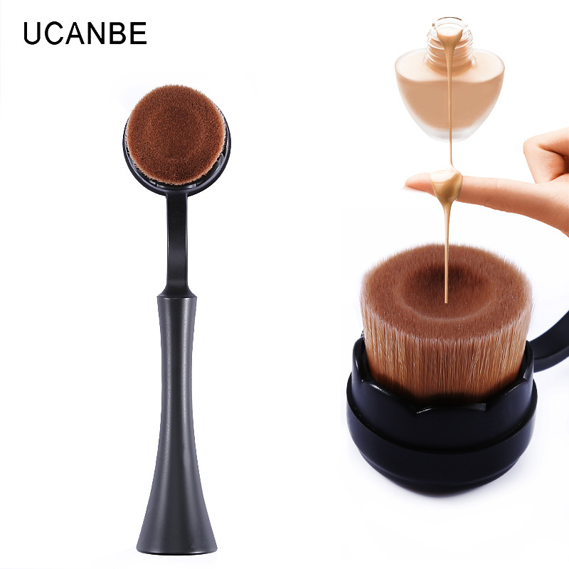 Diskaun berus jenama berus asas kepala rata membentuk Alat Kosmetik - Makeup