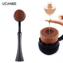 Discount brand makeup brushes foundation brush flat head make up Tool Cosmetic Cream Powder Blush portable cosmetic brush