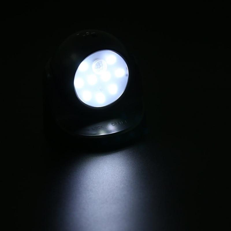 Image 5 - 9 LED Wireless Motion Sensor Night Light 360 Degree Rotation Night Light Night Lamp Wall Light Lamp Battery Power Auto On Off-in LED Night Lights from Lights & Lighting