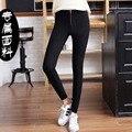 2015 Spring Woman Fashion Leggins Solid Color Elastic Black Pencil Pants Womans Leggings Skinny Pants Women's Cotton Pants Y004