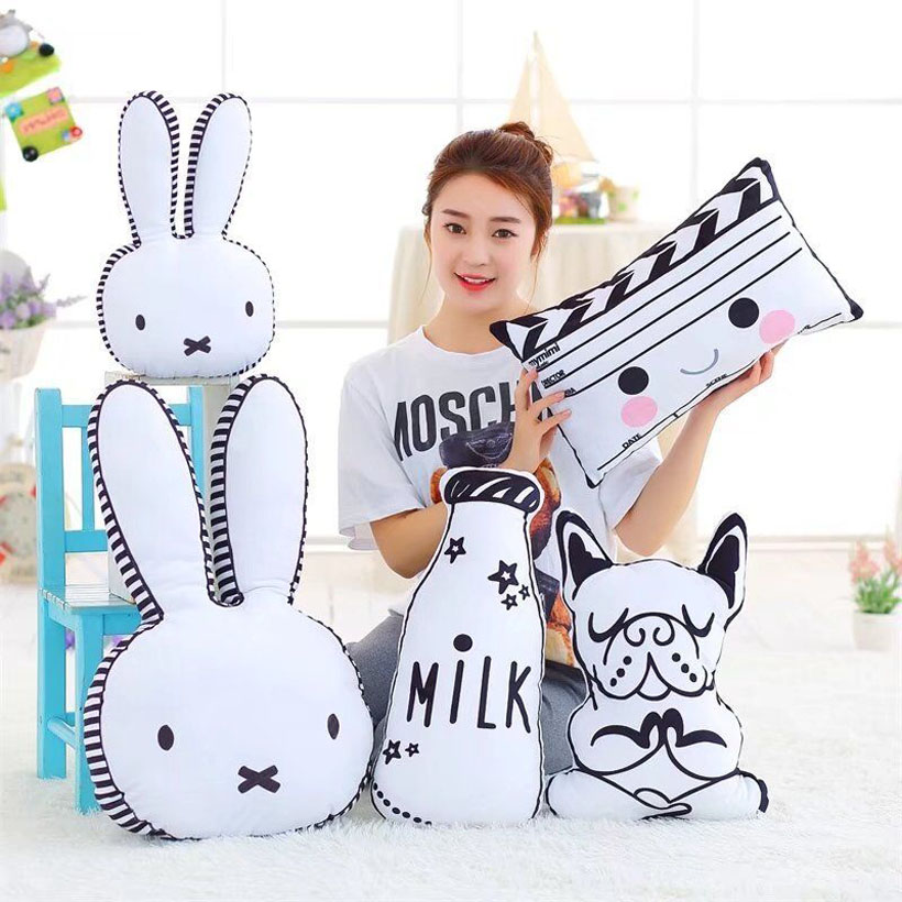 Cotton Baby Pillow Cute Rabbit Doll Pillow Baby Photo Props Baby Room Decor Gifts Mat Pillows Decorate Cushion Bed Toys
