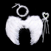 Kids Girls Princess Head Band Feather Angel Wings Birthday Party Party Favors Christmas New Year