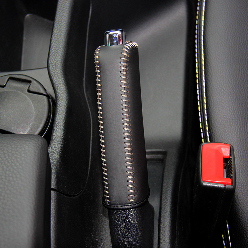 LS AUTO Top Genuine Leather Case For Handbrake For Nissan Qashqai T70 Hand Brake Cover Top Layer Leather Cover Handbrake
