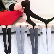 1Pair NEW  Stockings Women Socks Hot Sale Warm Cotton Thigh High Sexy Stocking Quality Over the Knee Long