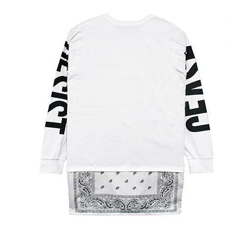 Cease desist bandana hip hop long sleeve bandana shirts side zipper cease desist bandana hip hop long sleeve bandana shirts side zipper men design tee shirts extended shirt black white 2 colors in t shirts from mens altavistaventures Images