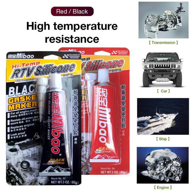 Automotive Mechanische Nicht-schild Kleber Silicon-dichtstoff Hohe Temperatur Widerstand Widerstand Lange Anhaltende Rot Schwarz Grau 85g