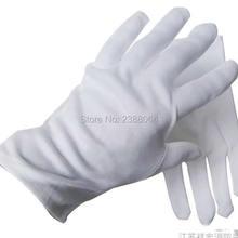Белые перчатки из чистого хлопка, рабочие перчатки из хлопка, белые перчатки