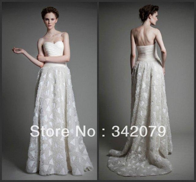 Ph09496 Haute Couture Tony Ward Ivory Wedding Gown In D Silk Gazar Sweetheart Dress