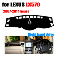 RKAC Car dashboard cover For LEXUS LX570 2007 2014 years Right hand drive dashmat pad dash covers auto dashboard accessories