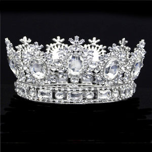 Image 3 - Luxuries Crystal flower Tiara Crown Headdress Prom Queen King crown for Wedding Tiaras and Crowns Hair jewelry Accessories