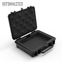 Yottamaster HDD Schutzhülle 3,5 zoll Festplatte Plattengehäuse Wasserdicht Stoßfest HDD Box Schwarz Sicherheitsschloss Design mit Label