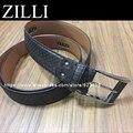 Correa ZILLI cinturón para los hombres los hombres de piel de serpiente real, envío gratis