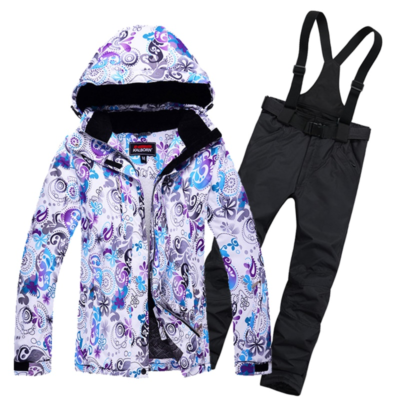 Women Skiing Jackets And Pants Warm Women's Snow Snowboard Clothes Waterproof Windproof Winter Dress Ski Suits Set For Female 2017 winter snow weather womens ski suits waterproof female snow jackets and pants sets thicken breathable snowboard clothing