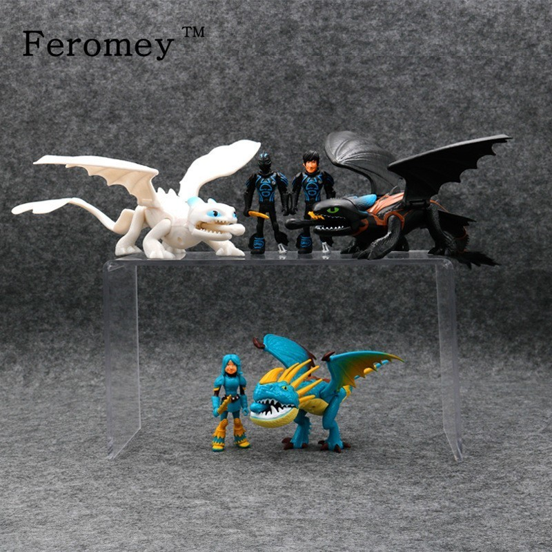 2019 How To Train Your Dragon 3 Toothless Dragon Figures Doll Night Fury Light Fury Action Figure Toys Children Kids Gift