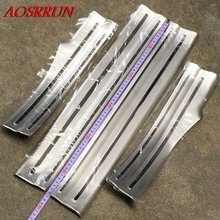 Door sill fit for Jac refine s5 2013 2014 2015 4 pcs/set sill plates car styling decoration protection interior auto accessories