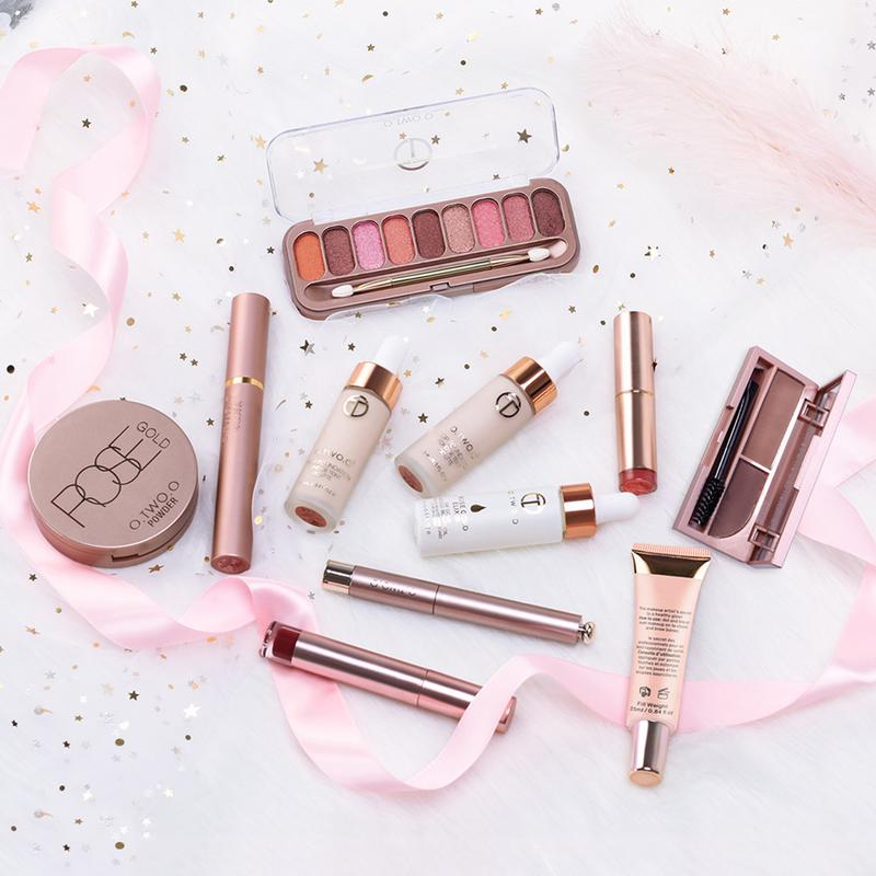 O.TWO.O Makup Tool Kit Including Matte Eyeshadow Lipstick Foundation Concealer Eyebrow Pencil Eyeliner Makeup Set Cosmetic Kit saiantth makeup tool set kit combination 15 color concealer palette toothbrush makeup brush water drops sponge puff cosmetic