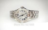 2014 Women Rhinestone Watches Rose Gold Dress Watches Full Diamond Crystal Women S Luxury Watches Female