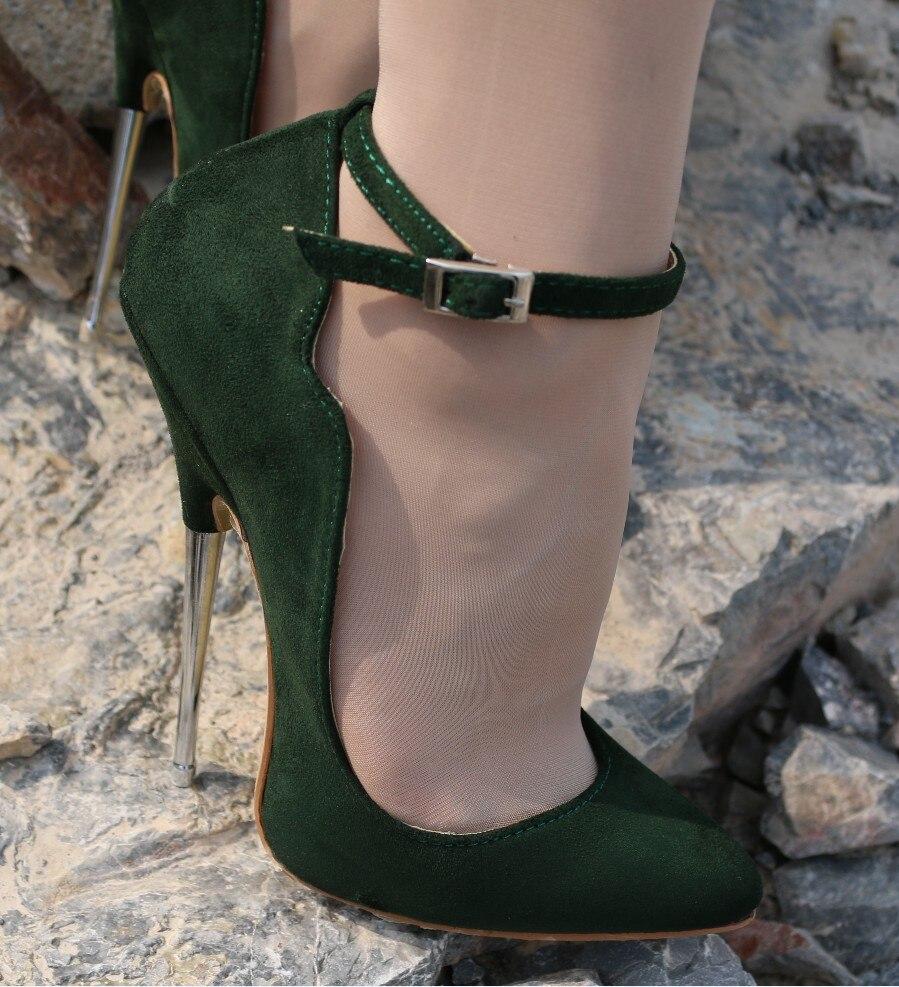46705725e6abe Große Größe Pfirsich Damen Schuhe High Heels 16 cm Stilettos ...