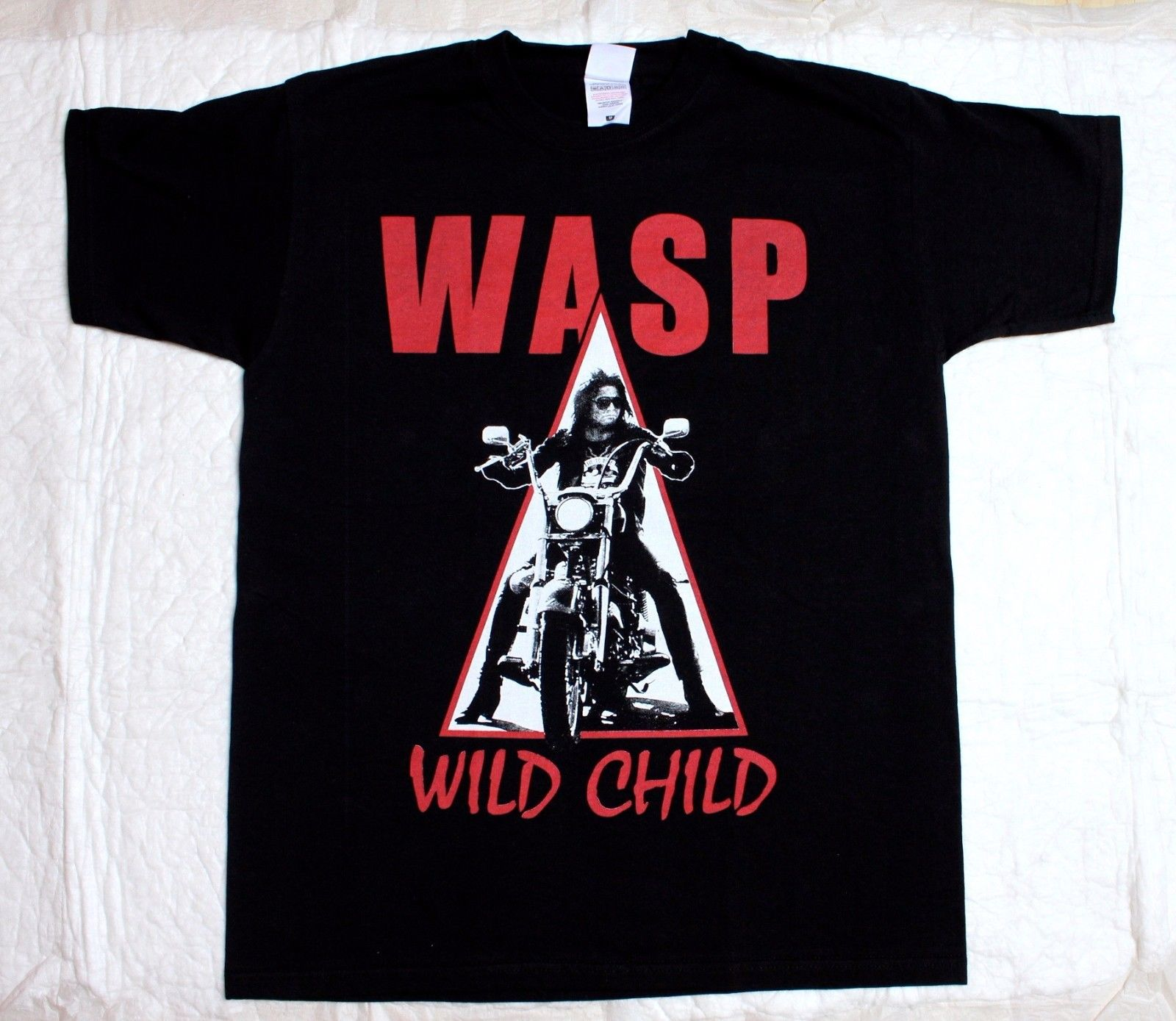 W.A.S.P. Wild Child85 Heavy Metal Band Wasp Twisted Sister New Black T Shirt