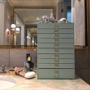 Image 5 - 大容量形の多層ボックス表示puレザー収納ジュエリーディスプレイボックスキャリングケースリングネックレスジュエリー