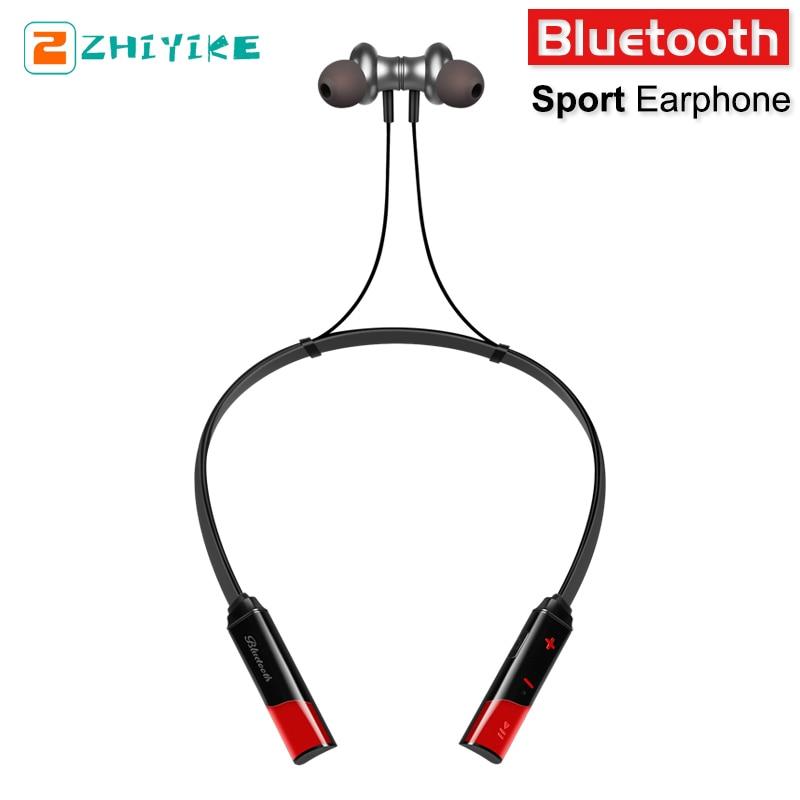 Sport Wireless Bluetooth Earphone Waterproof Sweatproof Bass Headphone Noise Cancelling Folding In ear Headset with mic